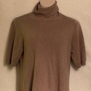 Apt. 9 tan with lace bottom sweater dress size L